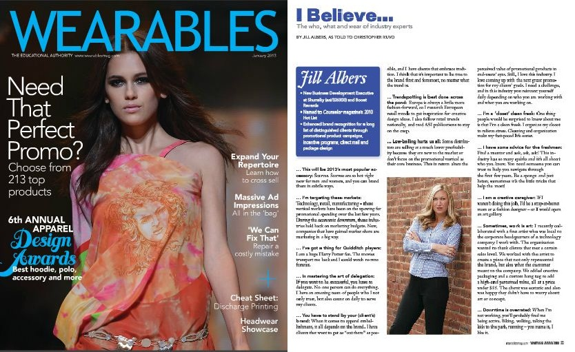 Jill Albers featured in Wearables Magazine