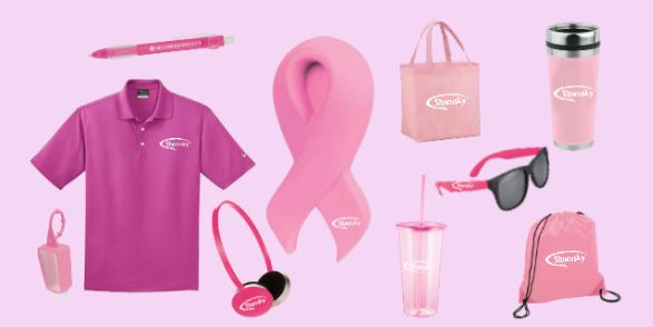 Pink Promotional Items for Breast Cancer Awareness