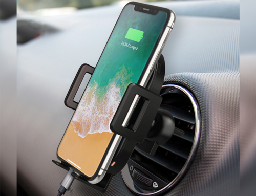 Wireless Charging Car Mount with Hands-Free Phone Grip