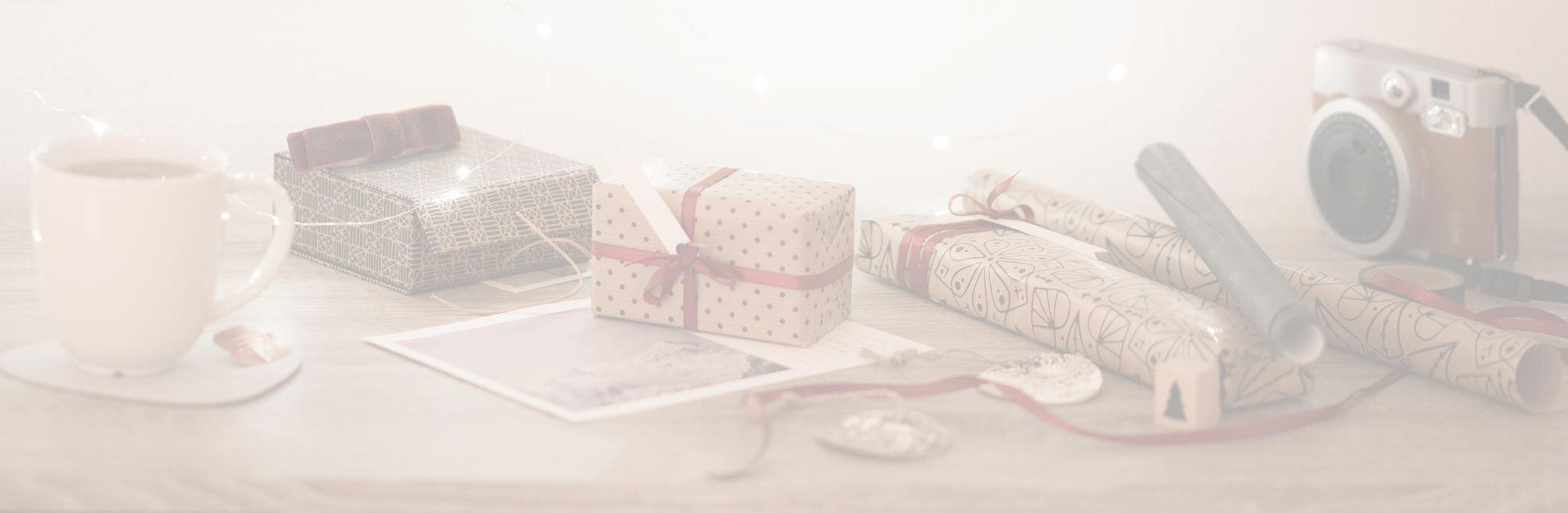 Holiday Background Image of Gifts