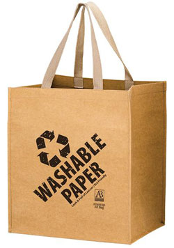 The Typhoon - Washable Kraft Paper Grocery Tote Bag with Web Handle