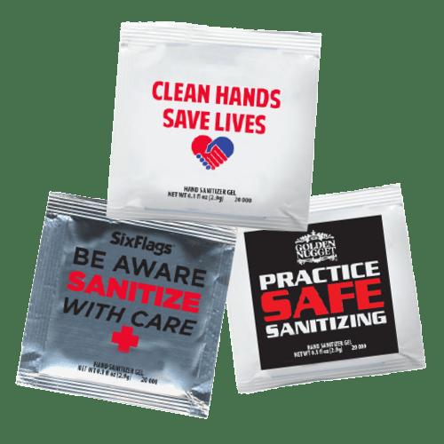 Hand Sanitizer Gel Packets